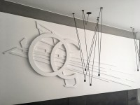 White on white, 3D installation, Lodz.
